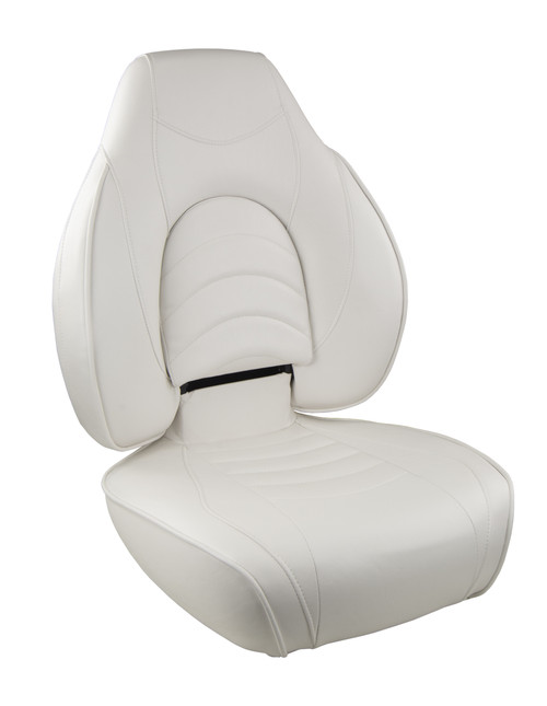 Springfield Marine | Fish Pro 1 - Highback Folding Boat Seat | White (1041606-1)