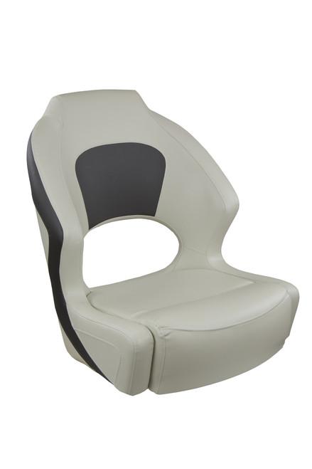 Springfield Marine   Deluxe Sport Bucket Seat (no flip-up bolster)   Gray & Charcoal (1043695)