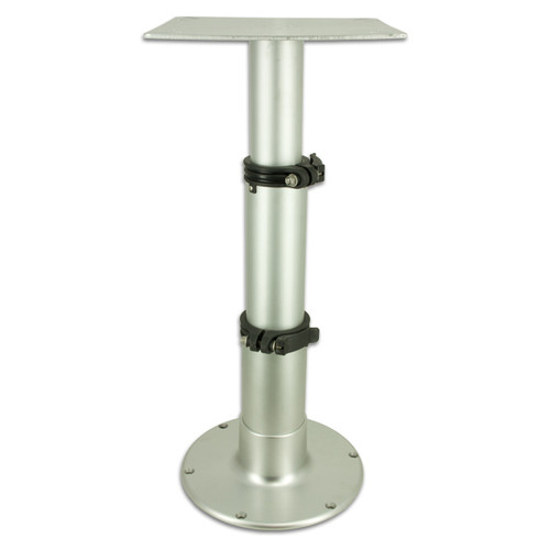 Springfield Marine | Adjustable Table Pedestal / 3 Stage Table Pedestal | Silver Satin | 14-28 inches (1660231)