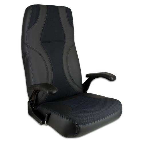 Springfield Marine | Norwegian Helm Seat | Black & Charcoal (1042093)