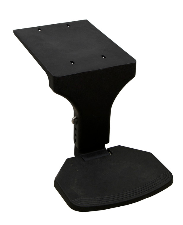Chair Mounted Flip Up Footrest Black
