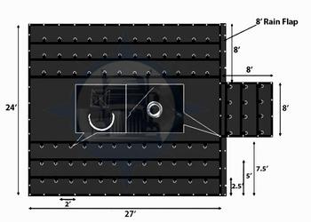 24 ft. x 27 ft. x 8 ft. Drop Extra Lightweight Combo Lumber Tarp. Free Shipping!