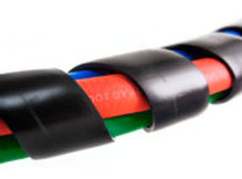 3-IN-1 WRAP -12FT RED&BLUE HOSE WITH POWDER-COATED MAXXGRIPS&SONOGRIP ABS CABLE