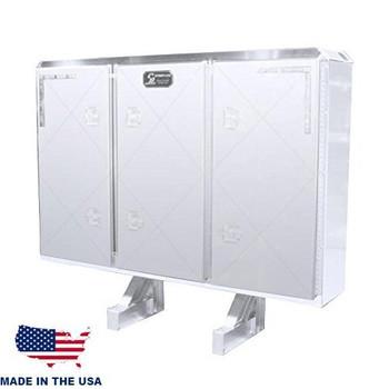 Heavy Duty 3 Door Enclosed Cab Rack with 2 Chain/Binder Racks