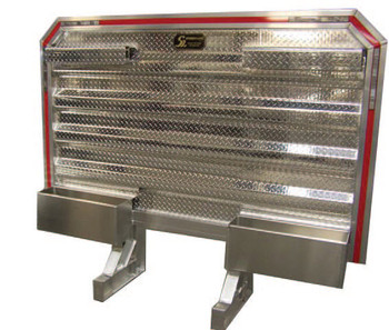 Heavy Duty Cab Rack with Two Chain/Binder Racks and Trays