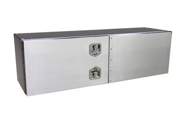 24 in. x 24 in. x 60 in. Smooth Aluminum Barn Door Style Toolbox