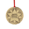"3"" Custom Bronze Round Ornament"