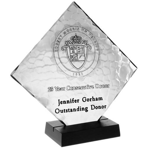 Custom Diamond Metal Recognition Award