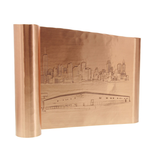 Large Free Standing Copper Scroll Recognition Award