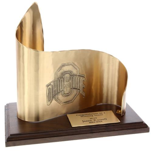Large Custom Bronze Scroll Recognition Award