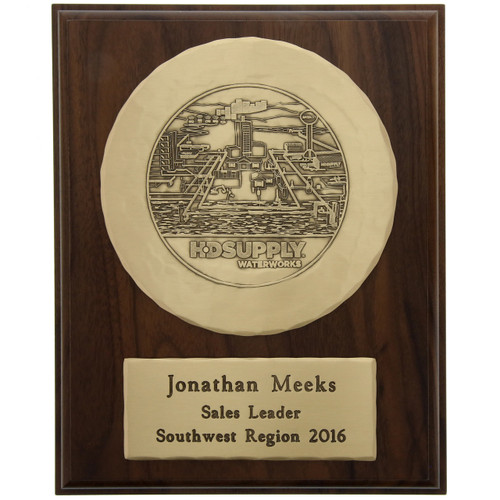 "Commemorative Wall Plaque with 6"" Round Plate"