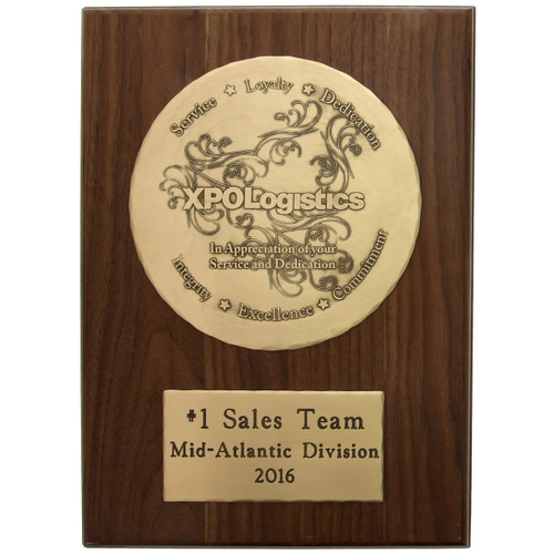"Commemorative Wall Plaque with 8"" Bronze Plate"
