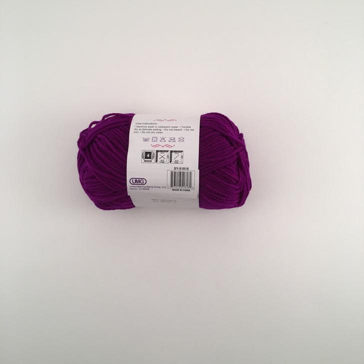 Craftlits-Choice Full Acrylic Yarn (PURPLE) 2OZ #4 MD 4-STRAND