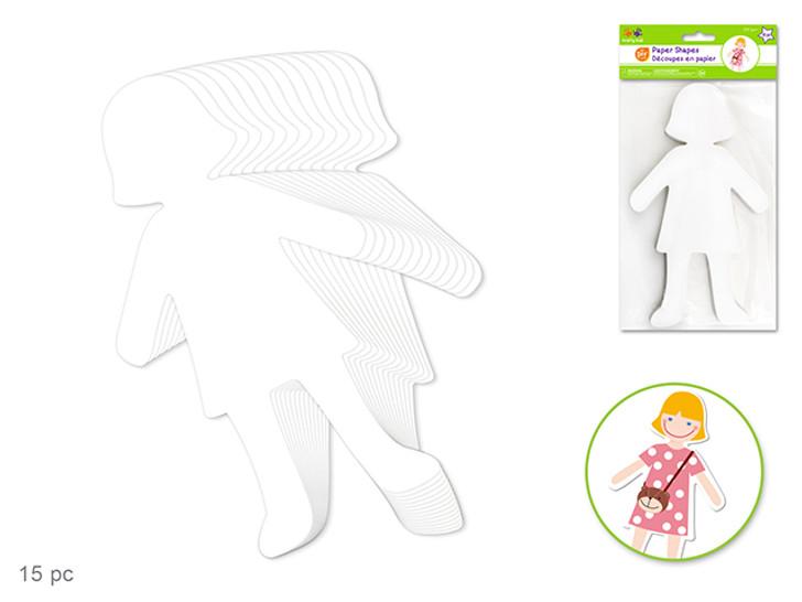 Krafty Kids: Paper Shapes DIY Large -Item# KC270A