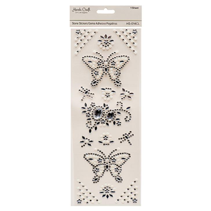 Butterfly Rhinestone Stickers, Decorative Cristals.