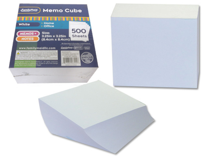 WHITE COLOR PAPER CUBE OFFICE SUPPLIES