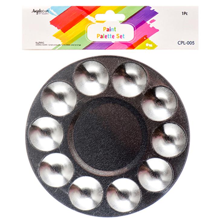 10 Color Mixing Palette Round Shape ( Aluminum )