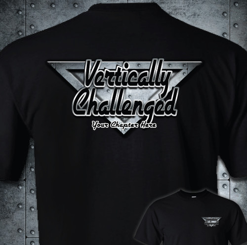 Vertically Challenged Adult T-Shirt | Chapter Rivet Metal Design