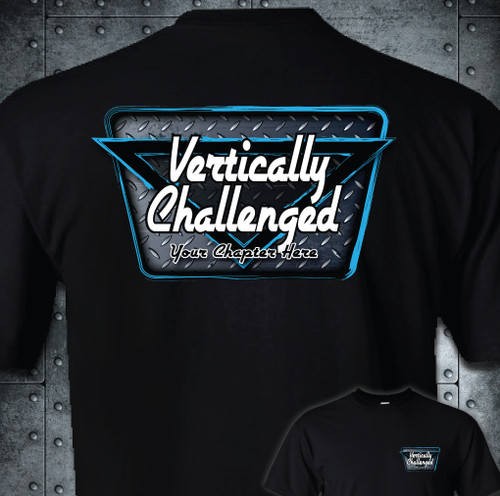 Vertically Challenged Adult T-Shirt | Chapter Diamond Plate Design