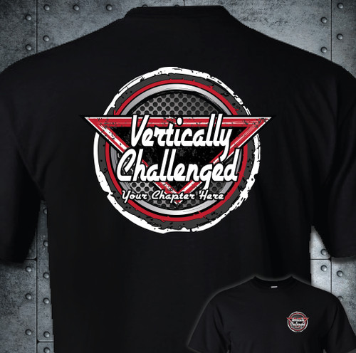 Vertically Challenged Adult T-Shirt | Chapter Grunge Circle Design