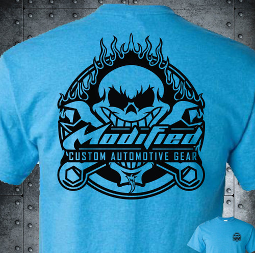 MODIFIED_SKULL LOGO - HTR SAPPHIRE SOFTSTYLE - SHIPPING INCLUDED IN $