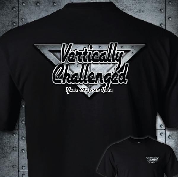 Vertically Challenged Adult T-Shirt | Chapter Rivet Metal Design