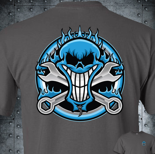 MODIFIED_SKULL LOGO - GRAY SOFTSTYLE - SHIPPING INCLUDED IN $