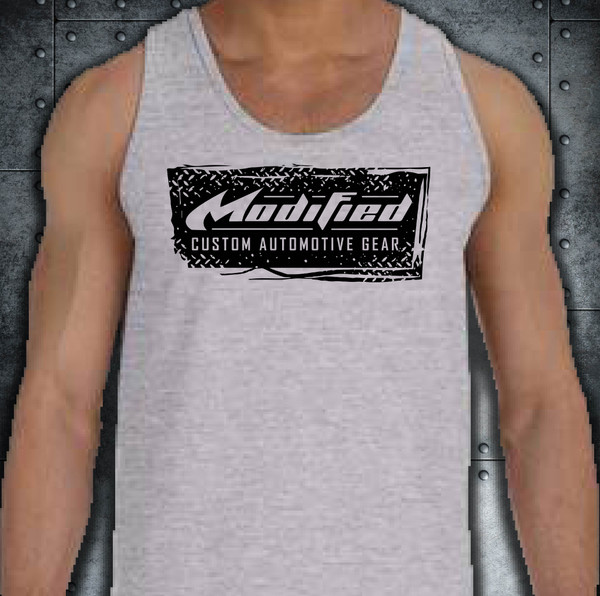 MODIFIED_TANK -GRY- GRUNGE LOGO - SHIPPING INCLUDED IN $