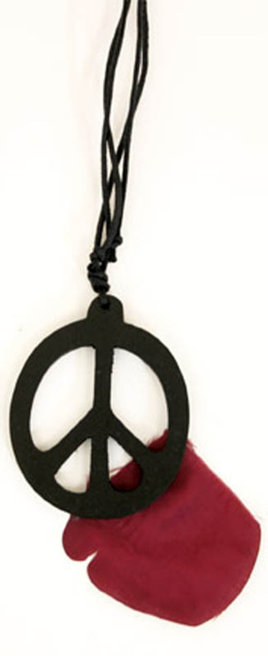 I Am PeaceChoker NecklaceEarringsBracelet Peace Sign and FlowersRainbow colors 15 34 inches