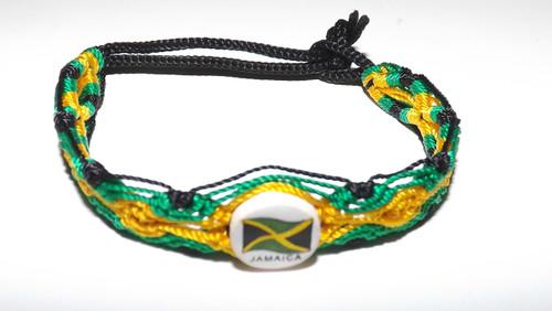 "Jamaica Friendship Bracelet  7"" adjustable bracelet. Made in the Philippines."