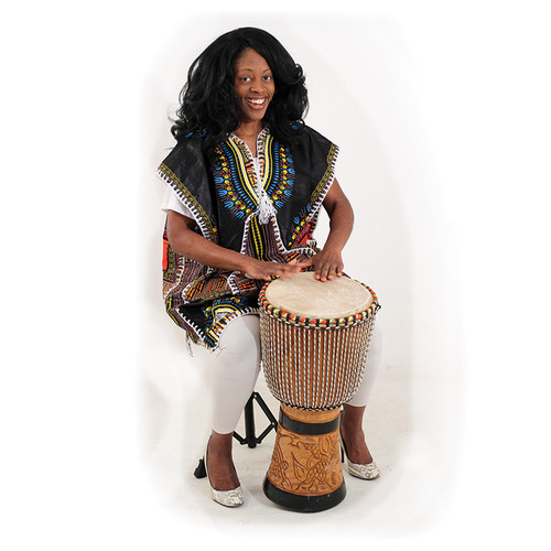 "Traditional print drummer poncho for everyday impression making and very durable. 100% cotton. Breathable. Open arms and thick soft embroidery. Fits up to 54"" chest. 34"" long. 100% cotton. Made in Ghana. Hand wash in cold water."