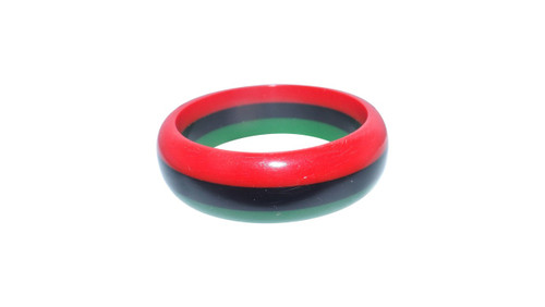 "RBG Slim Bangles  Red/Black/Green acrylic Afrocentric bangles. 2 7/8"" opening.   Material: Acrylic"