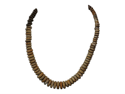 """Resin Beaded Necklaces  Natural hand crafted resin beaded necklaces in black or natural; length 12-14"""" length, hook fasten."""