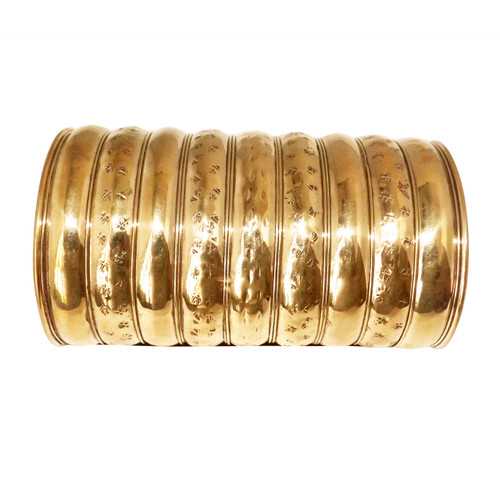 """Gold or Silver print cuffs 5"""" in length/high (end to end) 1"""" gap 7"""" circumference"""