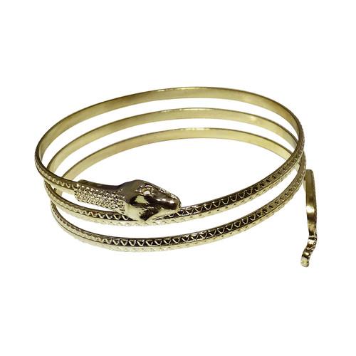 "Gold Snake Arm BGold Snake Arm Bracelet  Gold wrap snake arm wrap bracelets Measures 10"" wide; and 10"" high. Made in China. acelet"