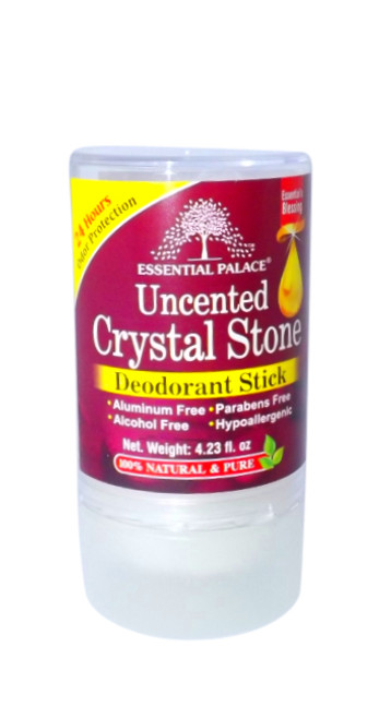 Pure & Natural Crystal Deodorant  Made from crystallized natural mineral salts that kill odor causing bacteria.