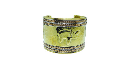 "Metal Elephant Cuff Bracelets  Silver or Gold elephant imprint cuff bracelets  2.5"" wide  6.5"" length  Made in India."