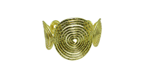 """Gold Spiral Bracelet  Inspired by the ancient symbol of growth and expansion. Gold brass 1.5"""" gap."""