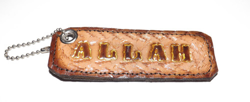 """Engraved Leather Keychain Holders are 3.5"""" to 5"""" in length.  Various engravings: Africa, Jah Love, Peace, Jesus, Allah"""