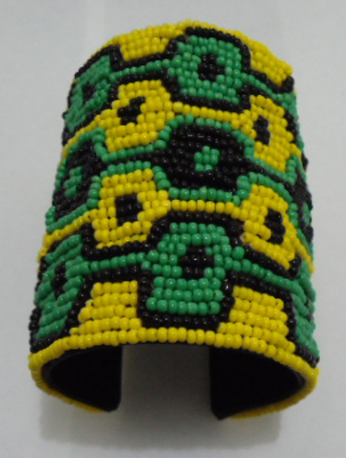 Jamaican Beaded Cuff Bracelet