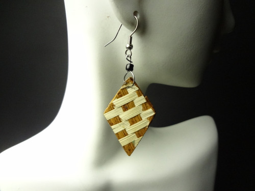 "1"" bamboo handmade earrings....Styles may vary."