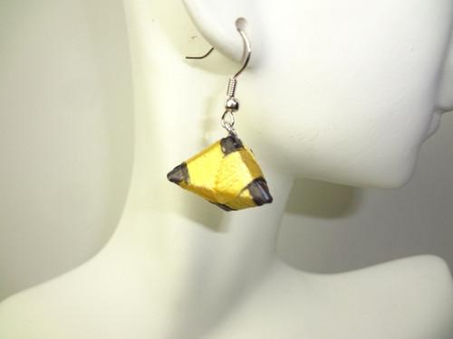 "1"" silk Festival earrings made with silk threading. Made in Kenya."