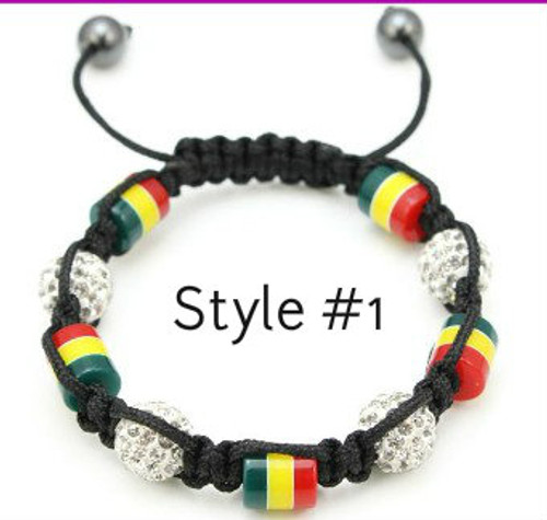 Style #1 with Wide Rasta Beads