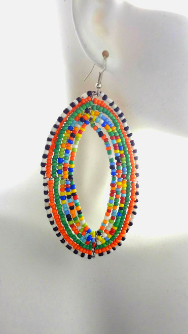 Large Multi-Color Oval
