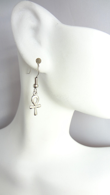 "2"" Mini Ankh Earrings Note: Earrings are not Sterling Silver."