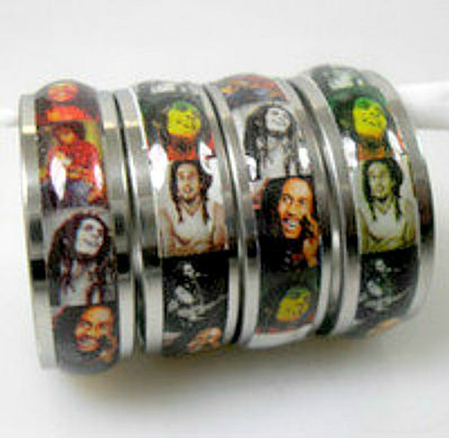 Bob Marley Stainless Steel Ring....small sizes