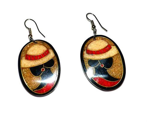 """2"""" Church Lady Silhouette earrings."""