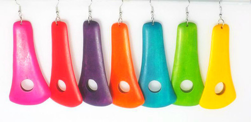 "4"" Wooden Door Knockers in vibrant colors."