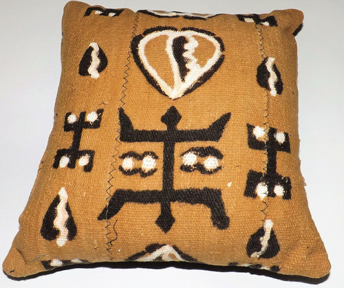 "12"" Handmade Mudcloth Throw Pillows  Accent your home with custom mud cloth pillows from Mali. A perfect complement to your couch/sofa.   Wipe with vinegar to clean when needed."