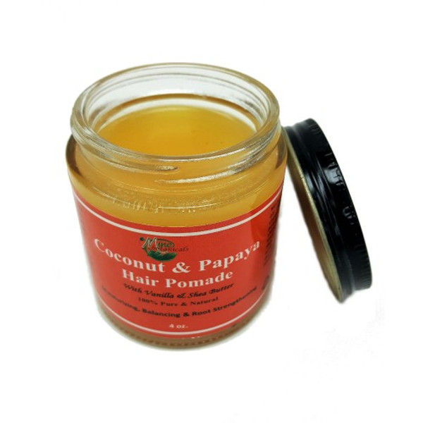 Coconut & Papaya Hair Pomade  Moisturizing, balancing and root strengthener.